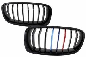 Grilles calandre BMW Serie 3 F30 F31 - Noir Brillant Mpower