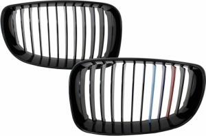 Grilles calandre LED BMW Serie 1 E81 E82 E87 E88 LCI - Noir Brillant Mpower