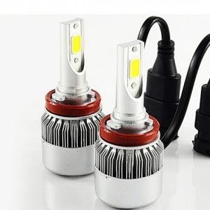 2 Ampoules LED H11 HEADxtrem C6 8500lumens 120W - Blanc Pur