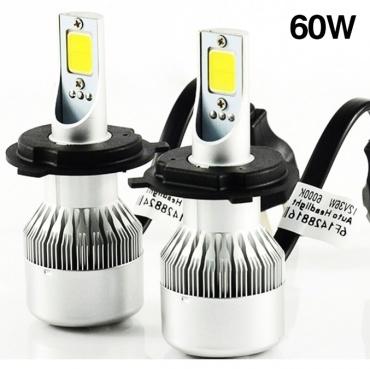 2 Ampoules LED H4 HEADxtrem C6 8500lumens 120W - Blanc Pur