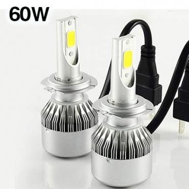 2 Ampoules LED H7 HEADxtrem C6 8500lumens 120W - Blanc Pur