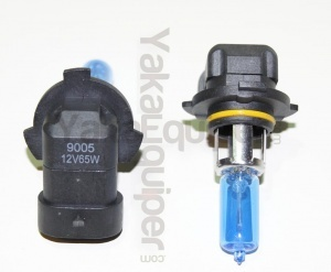Pack 2 Ampoules HB3 (9005) Effet Xenon - Super White 5000K