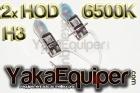 Pack Ampoule H3 HOD Effet Xenon - Cristal White 6500K