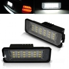 Pack LED plaque immatriculation VW POLO 6R