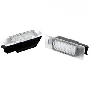 Pack LED plaque immatriculation PEUGEOT