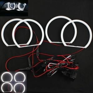 Pack 4 Anneaux Angel eyes LED cotton BMW E46 Avec Xenon Blanc