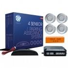 Radar de recul 4 capteurs + afficheur LED - Gris
