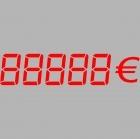 Vinyl adhesif lettrage chiffre / prix ROUGE 60x14cm