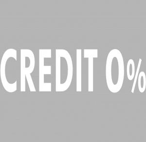 Vinyl adhesif lettrage credit 0% BLANC 100x30cm