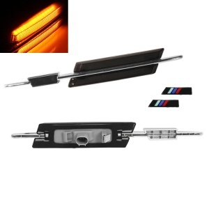 Clignotants repetiteurs LED dynamiques BMW E82 E88 E60 E90 E92 - Noir fume