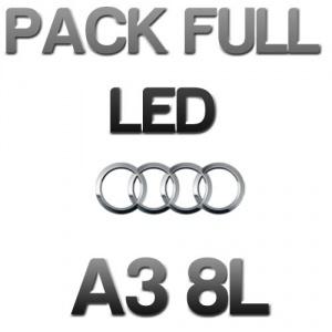 Pack Eclairage Full LED Audi A3 8L - Blanc pur