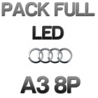 Pack n°2 Eclairage Full LED Audi A3 8P - Blanc pur