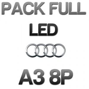 Pack n°1 Eclairage Full LED Audi A3 8P - Blanc pur
