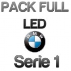 Pack 1 Eclairage Full LED BMW Serie 1 - Blanc pur