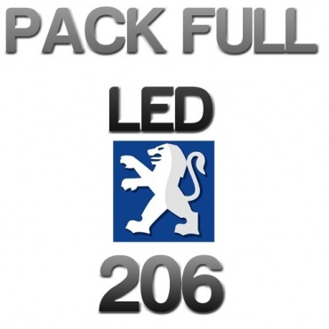 Pack Eclairage Full LED PEUGEOT 206 - Blanc pur