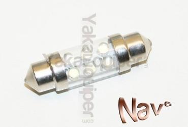 3+1 GRATUIT Navette 37mm LED Nav<sup>6</sup> - Culot C5W - Blanc Pur