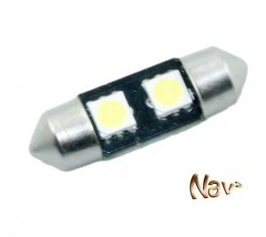 Navette 31mm LED Nav<sup>2</sup> SMD - Culot C3W - Blanc Pur