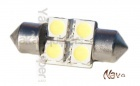 Navette 31mm LED Nav<sup>4</sup> SMD - Culot C3W - Blanc Pur