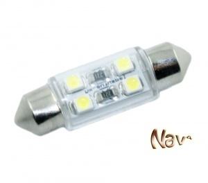 Navette 37mm LED Nav<sup>4</sup> SMD - Culot C5W - Blanc Pur