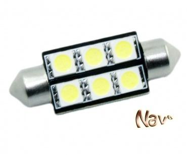 Navette 37mm LED Nav<sup>6</sup> SMD - Culot C5W - Blanc Pur