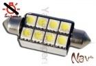 Navette 42mm LED Nav<sup>8</sup> SMD - Anti Erreur OBD - C10W - Blanc Pur