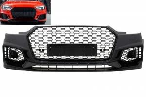 Pare choc avant AUDI A4 B9 limousine avant 16-18 - Look RS4 - Noir - PDC