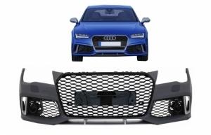 Pare choc avant AUDI A7 4G 15-18 facelift - Look RS7 - Noir