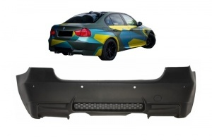 Pare choc arriere BMW Serie 3 E90 05-11 look M3 double - PDC