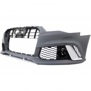 Pare choc avant AUDI A6 C7 phase 2 - 14-18 - Look RS6 - Noir
