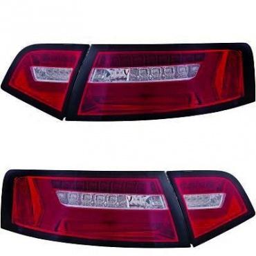 Feux arriere AUDI A6 4F2 LTI 08-11 Rouge / Fumé - Dynamique