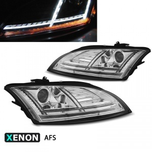 2 Phares xenon AUDI TT 8J phase 2 10-14 - look Matrix LED - AFS - Chrome