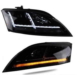 Phares xenon AUDI TT 8J phase 2 11-14 - look Matrix LED - Noir
