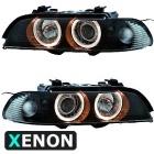 Phares avant BMW Serie 5 E39 xenon Angel Eyes - Noir