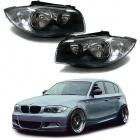 Phares avant BMW Serie 1 E81 E82 E87 E88 halogene - Gris anthracite