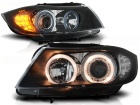 Phares avant BMW Serie 3 E90 E91 Angel Eyes LED 05-08 - Noir