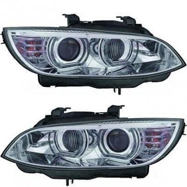 Phares xénon BMW Serie 3 E92 Coupe Angel Eyes LED U-LTI 05-10 - Chrome