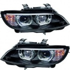 Phares xénon BMW Serie 3 E92 E93 Coupe Angel Eyes LED U-LTI 05-10 - Noir