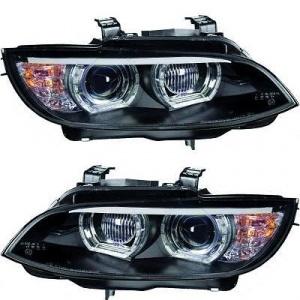 Phares xénon BMW Serie 3 E92 E93 Coupe Angel Eyes LED U-LTI 05-10 - Noir