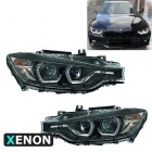 2 Phares xénon AFS BMW Serie 3 F30 F31 Angel Eyes LED 11-15 - Noir