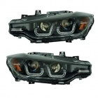 2 Phares avant BMW Serie 3 F30 Angel Eyes Xenon LED 11-15 - Noir
