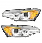 2 Phares avant BMW Serie 3 F30 F31 Angel Eyes 3D LED 11-15 - Chrome