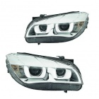 2 Phares avant BMW X1 E84 Angel Eyes 3D LED 12-14 - Chrome