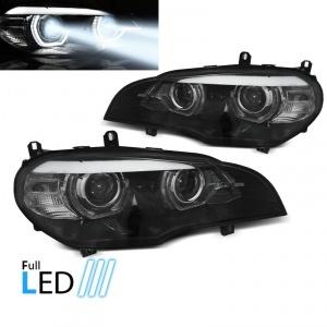 2 Phares fullLED BMW X5 E70 Angel Eyes LED 07-13 - Noir