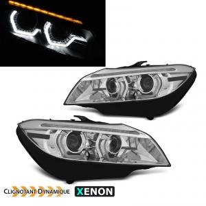 Phares xenon AFS BMW Z4 (E89) Angel Eyes LED 3D dynamiques - 09-13 - Chrome