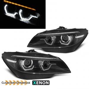 Phares xenon AFS BMW Z4 (E89) Angel Eyes LED 3D dynamiques - 09-13 - Noir