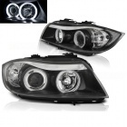 Phares avant BMW Serie 3 E90 E91 Angel Eyes CCFL 05-08 - Noir