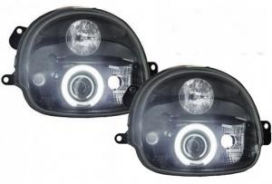 2 Phares avant angel eyes ccfl Renault Twingo 93-07 - Noir