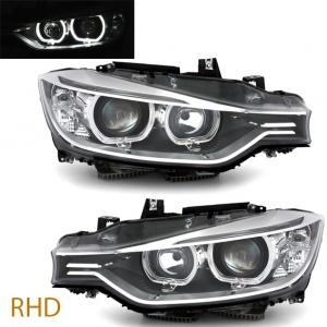 Phares BMW Serie 3 F30 - DEPO V2 LED 11-15 RHD - Noir