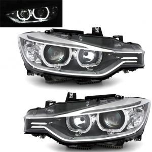 Phares BMW Serie 3 F30 - DEPO V2 LED 11-15 - Noir