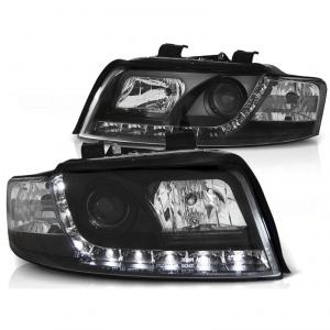 2 Phares avant AUDI A4 cab (B6) 02-06 - Devil eyes LED - Noir